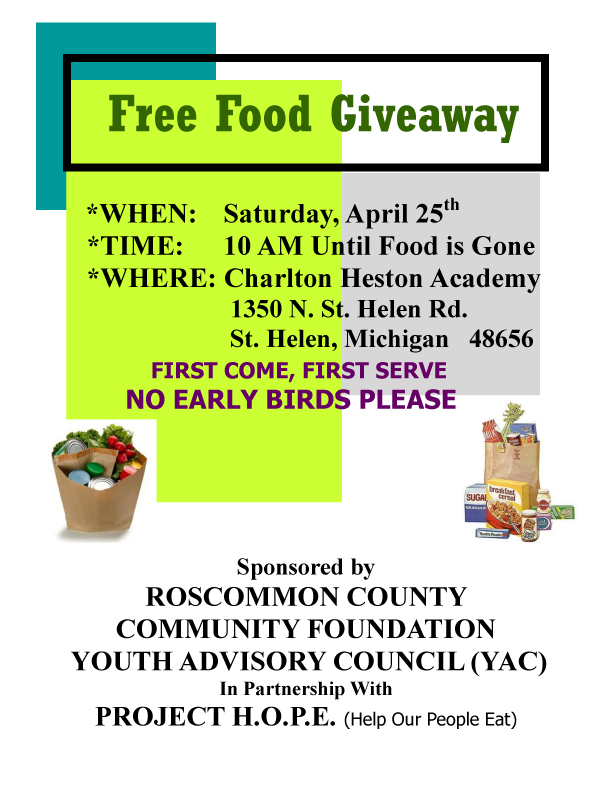 Project H.O.P.E. free food giveaway