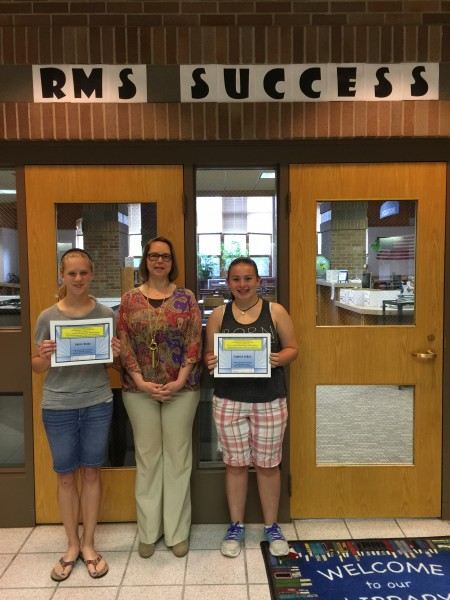 Pictured (left to right):  Annie Biggs, RCCF Executive Director Suzanne E. Luck, and Camryn LeRay