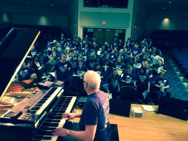 Front: Mr. Ken Medema, Back: Roscommon Choirs
