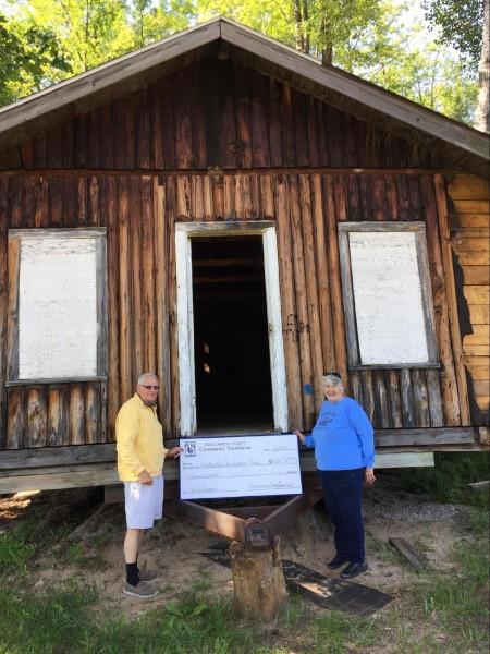 Pictured: Charles Feldman and Agnes Feldman, President of the Houghton Lake Area Historical Society