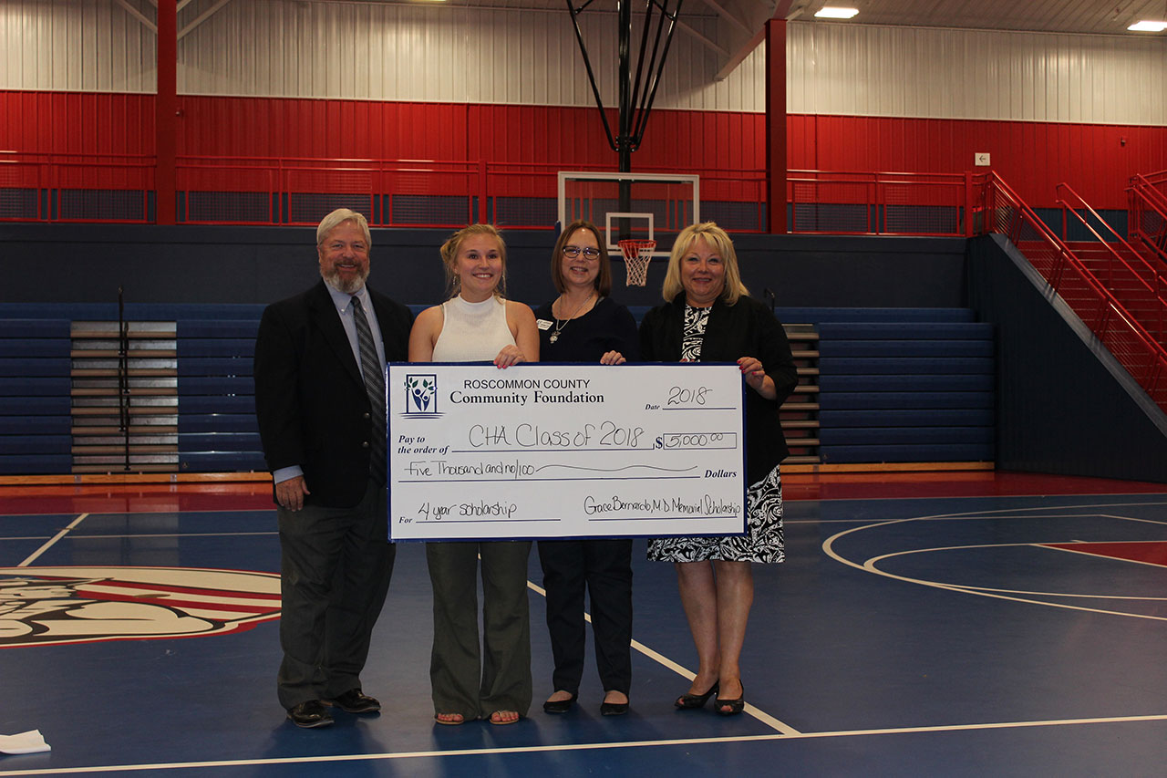 RCCF Presents a $5,000 Scholarship to CHA